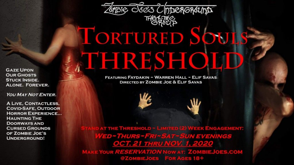 ZJU Presents TORTURED SOULS THRESHOLD, A COVID-Safe Outdoor Horror Experience